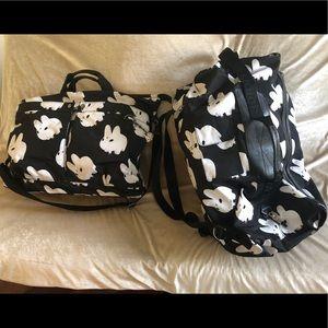 Great Kidrobot Matching Tote & Duffle Bag